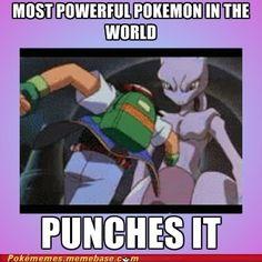 Punching Mewtwo