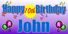 Colorful, personalized birthday banner