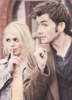 """Fingers on lips"" - i use this all the time, no one know I'm quoting Doctor Who -LOL"