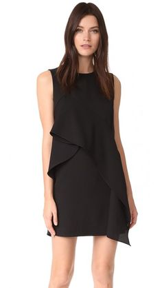 Diane von Furstenberg Ruffle Front Mini Dress