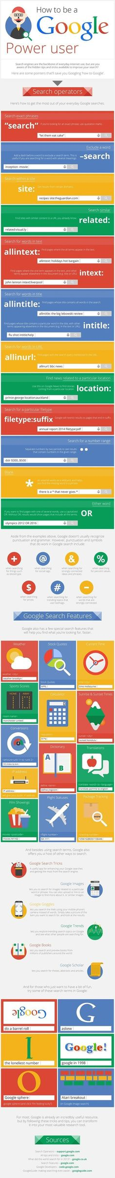 46 Hidden Tips and Tricks to Use Google Search Like a Boss: Infographic