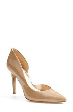 Jessica Simpson 'Claudette' Pump at Neutral Pumps, Nude Pumps, Stiletto Pumps, Women's Pumps, Lace Up Sandals, Open Toe Sandals, Shoe Boots, Shoes Heels, Womens High Heels