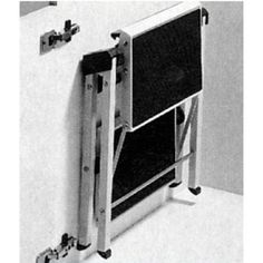 Folding Step Stool In The Toekick Of Cabinet Kitchens