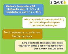 #Infografía @Hacesmas nos da 4 útiles consejo para ahorrar energía en el uso del frigorífico ¡Gracias!