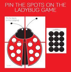 Printable Pin the Spots on the Ladybug Game