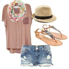 Spring Casual by monica-derossette on Polyvore. Just need but longer shorts ;-)