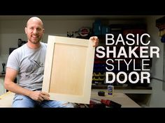 Build Shaker Cabinet Doors With Table Saw | New to Woodworking? - YouTube Shaker Cabinet Doors, Shaker Cabinets, Table Saw, A Table, Woodworking Wood, Woodworking Projects, Kitchen Cabinet Crown Molding, Shaker Style, Building