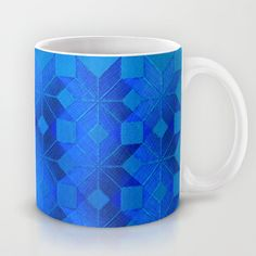 Twilight Mug by Gréta Thórsdóttir - $15.00  #scandinavian #snowflake #pattern #blue #cobalt #ombre #nightfall #kitchen