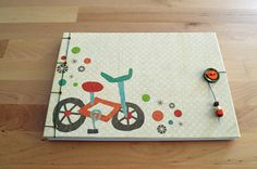 Personalized handmade baby guestbook birth book by JournalShop, €35.00