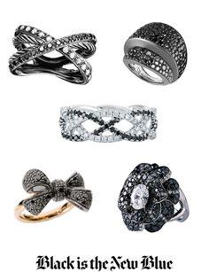 black diamond rings.