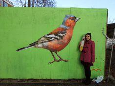 Loughborough Farm Chaffinch by London street artist ATM Bird Street Art, London Street, Street Artists, Art World, Chaffinch, Britain, Art Projects, Graffiti, Art Gallery