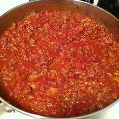 BestPinterest: Best spaghetti sauce, ever. Homemade & weight watchers friendly!