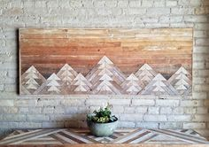 These gorgeous reclaimed wood wall décor pieces are geometric works of art. They would make the ultimate handcrafted addition to any space.