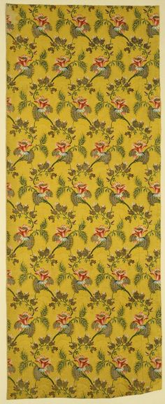 Textile with Design of Stylized Flora   LACMA Collections (France, circa 1725-1750) Silk and metallic yarn brocaded on silk ground