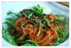 [돌나물 비빔국수] 돌나물 듬뿍~매콤상콤 비빔국수 만들기 – 레시피 | Daum 요리