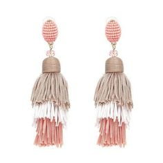 Dance the night away in these lightweight, trendy earrings! Three distinct layers of thick black cotton tassel fringes. The fringes are held at the top by a bea Pink Tassel Earrings, Black Earrings, Boho Earrings, Tassel Earing, Style Blogger, Fashion Beads, Street Style, Aliexpress, Fashion Week