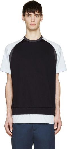 Undecorated Man Navy Combination Sweatshirt