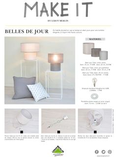 Comment créer une lampe à poser soi-même ? #DIY #decofacile