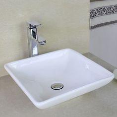 American Imaginations Above Counter Square Vessel Bathroom Sink