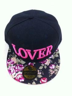 d54e54bf98618 Amante da forma quente o boné de beisebol carta Hip Floral Pop Snapback Cap  Hat para