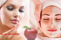 Apple Face Pack : Soften and Improve Face Broken White, Acne Spots, Alpha Hydroxy Acid, Layers Of Skin, Pomegranate Juice, Wash Your Face, Pimples, Oily Skin, Ultra Violet