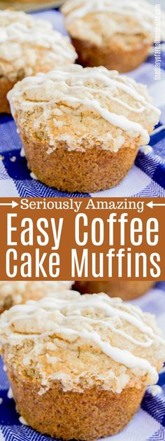These Coffee Cake Muffins are made with a brown sugar and butter crumble then to. These Coffee Cake Muffins are made with a brown sugar and butter crumble then topped with a simple Coffee Cake Muffins, Breakfast Muffins, Breakfast Cake, Breakfast Casserole, Muffin Recipes, Baking Recipes, Cake Recipes, Baking Ideas, Best Breakfast Recipes