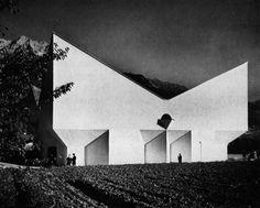 Josef Lackner, Kirche Vols, Tirol, Austria, Architecture Arc, Modern Church, Tirol Austria, Cleveland Museum Of Art, Church Design, Old Building, Urban Planning, Modern Buildings, Brutalist