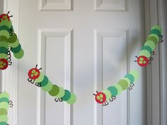 Very Hungry Caterpillar Decorations, Party Decorations, Paper Garland Decorations, Speciality Decorations. $24.00, via Etsy.
