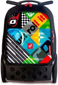 Mochila Trolley, Unisex, Pot Holders, Lunch Box, Image, Backpack Brands, Big Wheel, Pockets, Hot Pads
