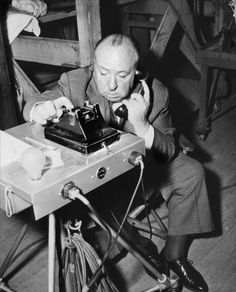 Alfred Hitchcock on spot of «Dial M for murder», 1954  [::SemAp FB || SemAp G+::]