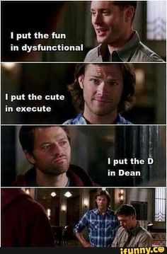 Omg ngl I was laughing so hard at this... still conflicted on destiel but this. This is freaking hilarious