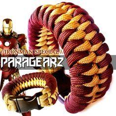 //IRONMAN themed paracord bracelet!