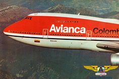 747 de Avianca - Aviacol.net El Portal de la Aviación Colombiana Commercial Plane, Commercial Aircraft, Boeing Aircraft, Airbus A380, Aircraft Design, Vintage Design, Flight Attendant, Portal, Aviation