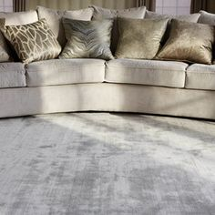 Make your home beautiful with Modern Rugs, the UK's biggest online Rug store. ✓ Shop over designs ✓ FREE DELIVERY ✓ Up to off area rugs. Silver Carpet, White Carpet, Diy Carpet, Modern Carpet, Rugs On Carpet, Carpet Ideas, Modern Rugs, Stair Carpet, Hall Carpet