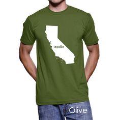 #California Legalize Pot Men's T-Shirt #PotTeez
