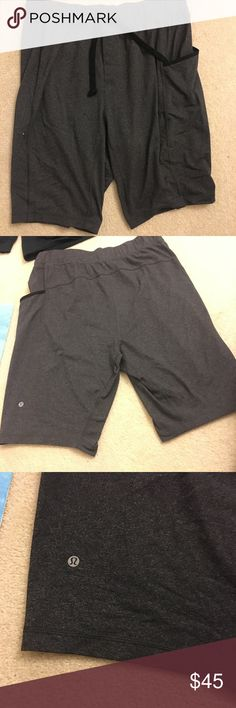 Men's Lululemon shorts gray Lululemon shorts. Size L. Used but in good condition, just a little bit of pilling on the waistband, not noticeable when being worn. lululemon athletica Shorts