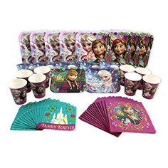 Frozen Disney Elsa and Anna Birthday Party Set for 8 ** Read more reviews of the product by visiting the link on the image.