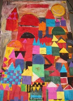 Paul Klee -day scene, Fazakerley Primary School Reception Class, Nov.  2009