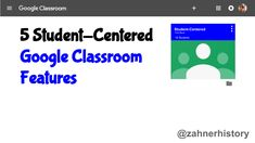 Student-centered technology use is one of my main goals as a tech integrator. In this post, I share Google Classroom features that help me make the user experience more about the individual learner's needs. Student Centered Learning, School Computers, 6th Grade Reading, Computer Class, Instructional Strategies, Google Classroom, Google Drive, Middle School, Technology