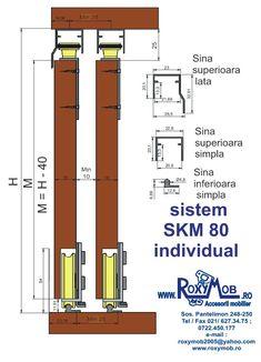 Sistem de glisare SKM 80 Bar Chart, Diagram, Floor Plans, Floor Plan Drawing, House Floor Plans