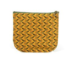 Yellow Shweshwe make up pouch