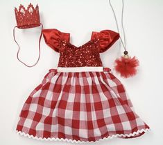 Valentine's Day Romper Perfectly Plaid
