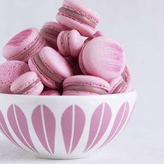 Lucie Kaas Lotus skål hvit/rosa 24cm