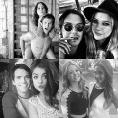 pretty little liars, pll, and ezria image Pretty Little Liars Netflix, Pretty Little Liars Spencer, Preety Little Liars, Pretty Little Liars Quotes, Spencer And Toby, Foto Art, Role Models, Cute Couples, Actors & Actresses