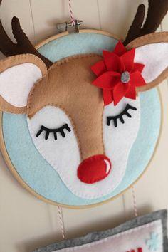 DIY Christmas Decor Decoration PDF Rudolf Reindeer Pattern
