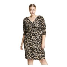 d52fb1e58b4 Women Print Wrap Dress from Joe Fresh. With a fitted cut and spandex  stretch