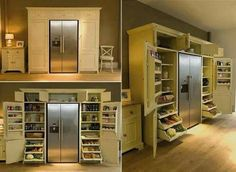 """Ultimate Kitchen Storage Unit! more info/source ---> http://diycozyhome.com/neptune-grand-larder-unit/  I know this isn't DIY but it's just such a beautiful kitchen storage unit. I guess in the UK they call this a """"Larder""""... never heard that term before but sounds good to me :)  ~Linda"""