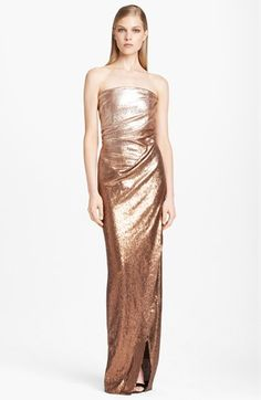 Donna Karan Collection Strapless Ombré Sequin Gown | Nordstrom