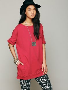 Free People Rolled Sleeved Pocket Sweatshirt, $29.95