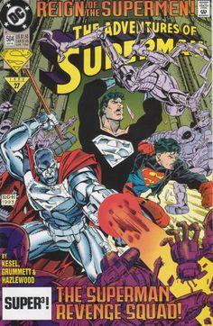 The Adventures of Superman 506 - DC Comics Print 1993 FN for sale online Superman Comic Books, Superman News, Death Of Superman, Superman Family, Dc Comic Books, Vintage Comic Books, Comic Book Covers, Vintage Comics, Black Superman
